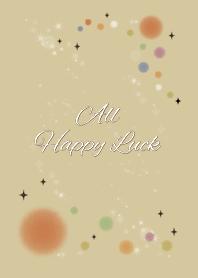 Beige&Navy / All Happy Luck