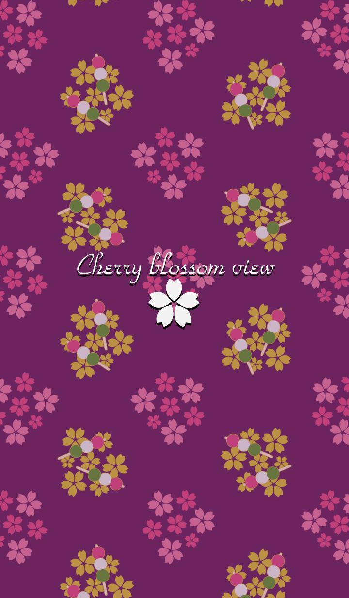 Cherry blossom view -Purple-