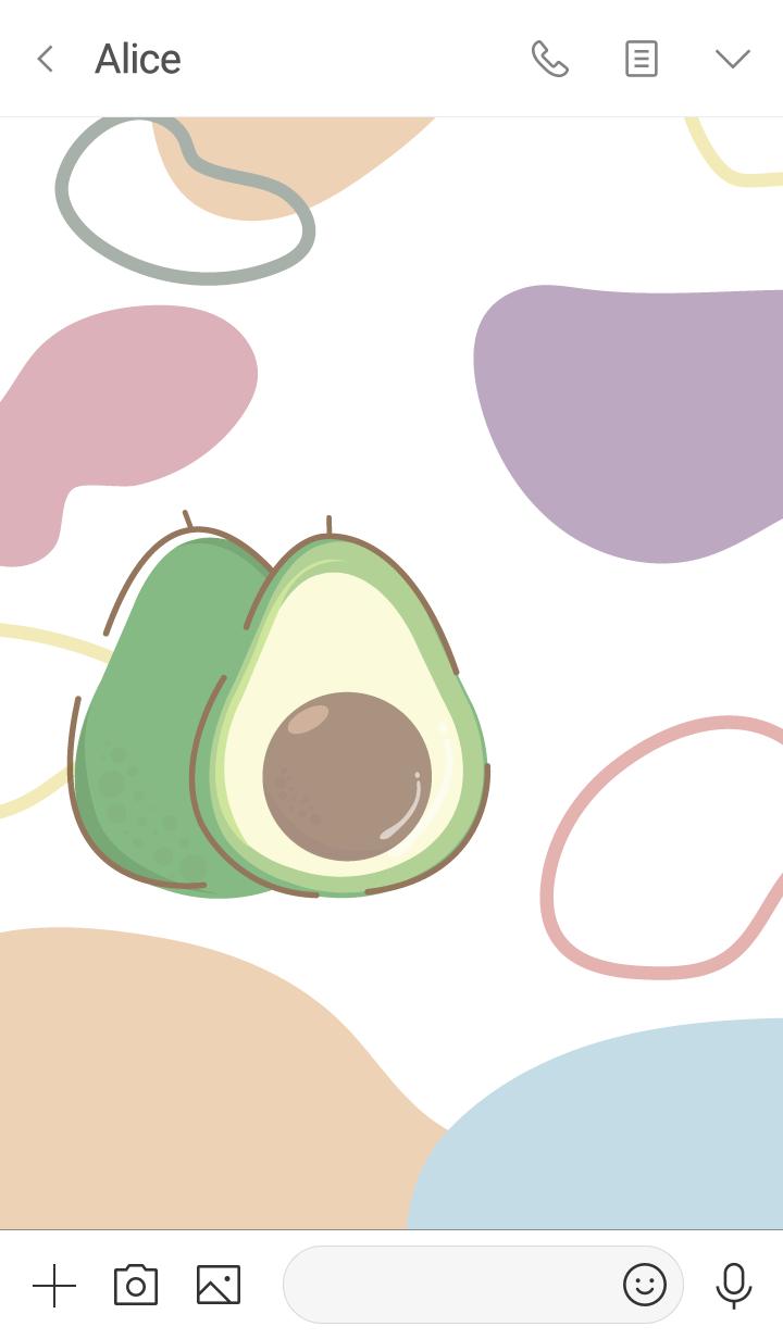 avocado minimal pastel (simple ver.)