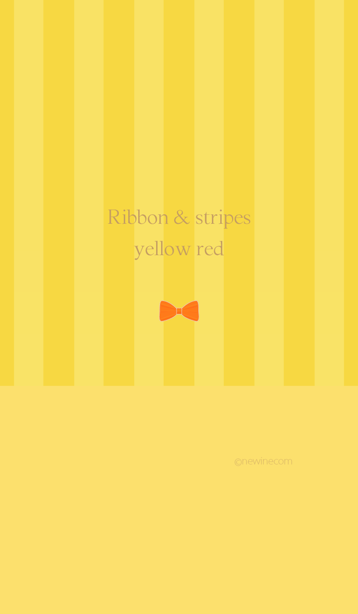 Ribbon & stipes yellow red