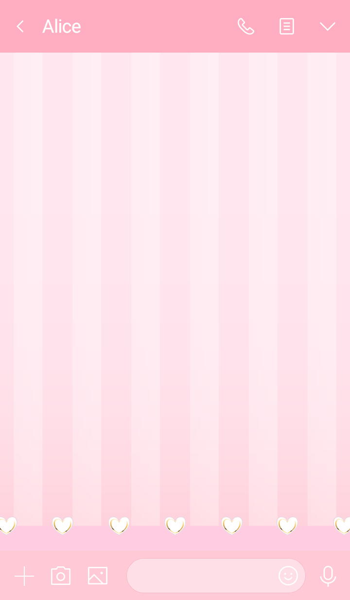 Hearts and stripes pink white
