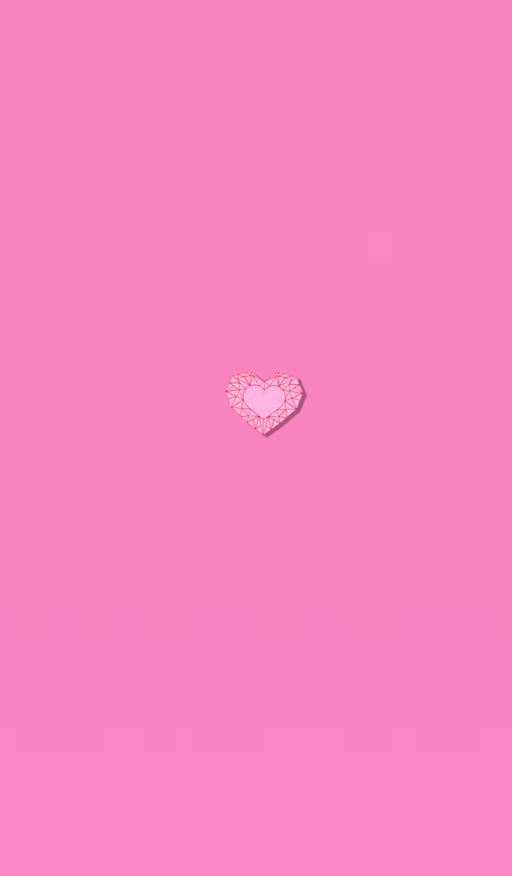 Pink heart that changes life