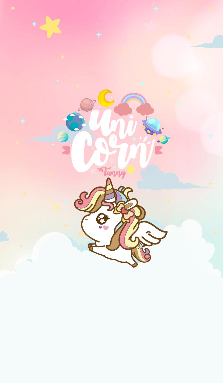 Unicorn Funny Galaxy Angel