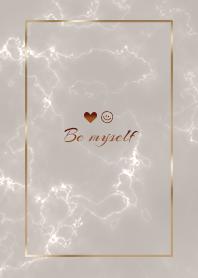 """""""Be me"""" Marble brown30_2"""