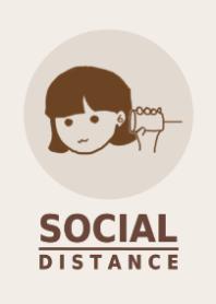 社交距離:女孩