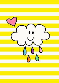 (rain x yellow border )