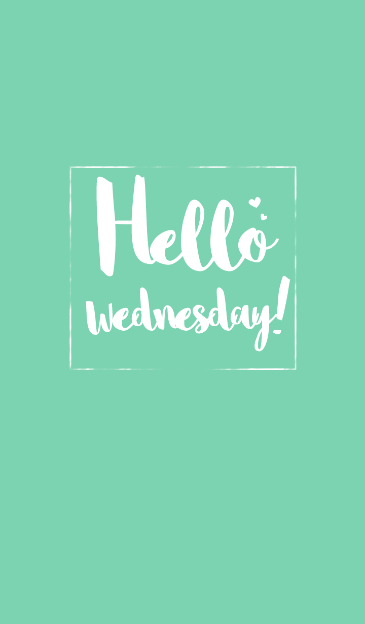 Hello Wednesday!!