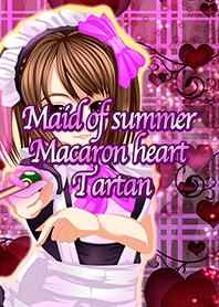 Maid of summer Macaron heart Tartan