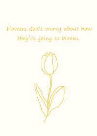 art tulip -yellow beige-(JP)