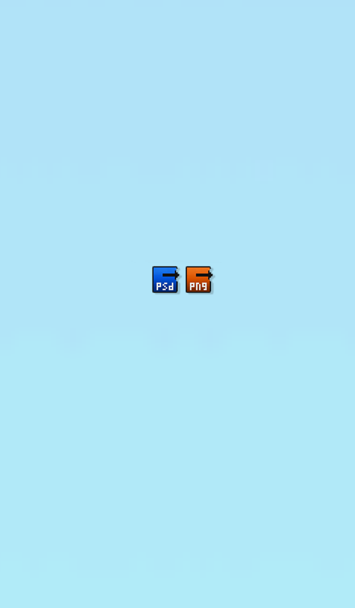 Simple psd png folder