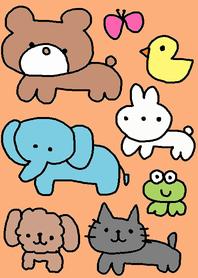 animals x orenge