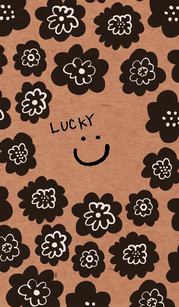 Kraft black smile with flower patterns15