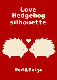 Love Hedgehog silhouette.
