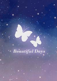 蝴蝶-浪漫夜空 紫