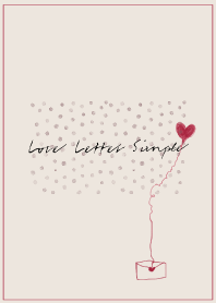 Love Letter Simple -beige-