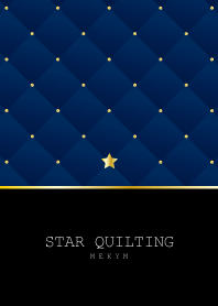 STAR QUILTING -NAVY-