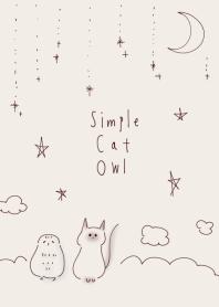 簡單的貓貓頭鷹