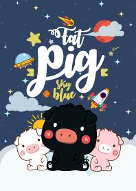 Fat Pig Galaxy Sky Blue