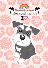 ธีมไลน์ Rocky&Friends I love