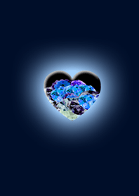 Blue Heart to be happy