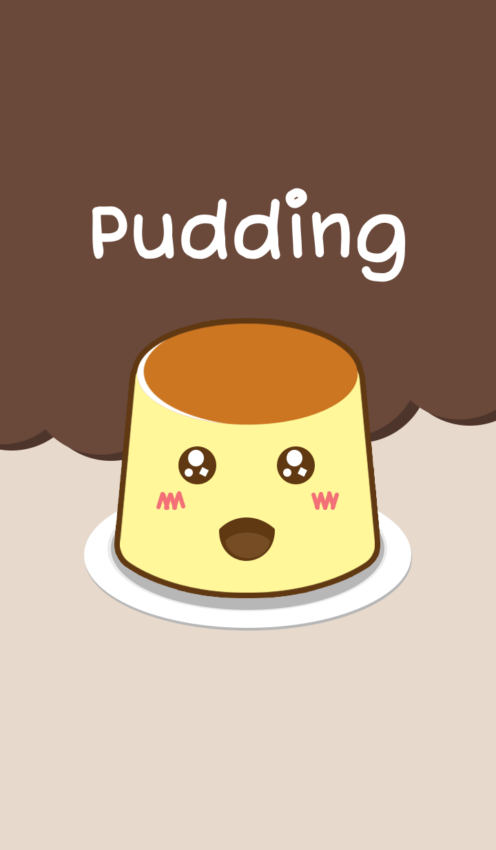 Pudding with cuteness