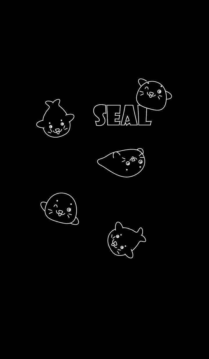Simple cute seal theme v.2 (JP)