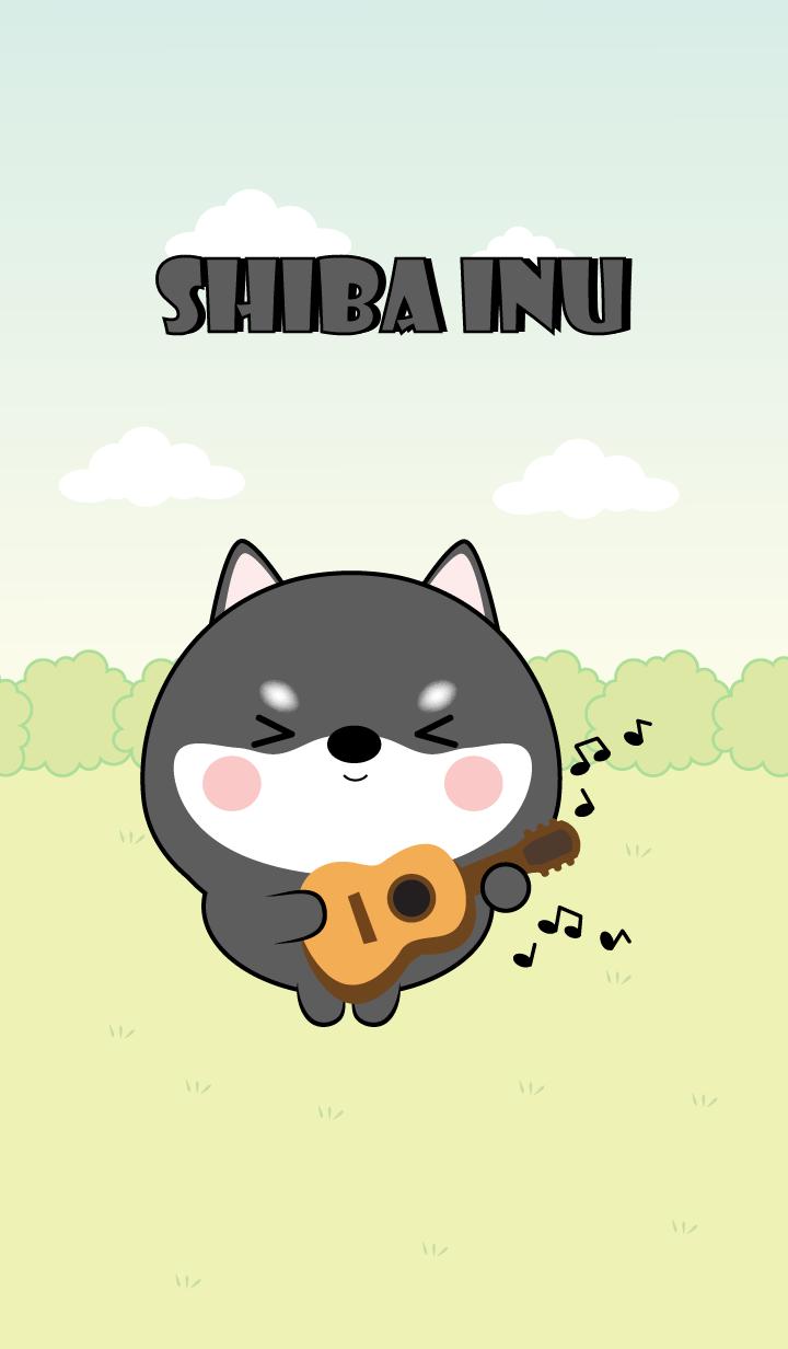 Mini Lovely Black Shiba Inu Theme (jp)