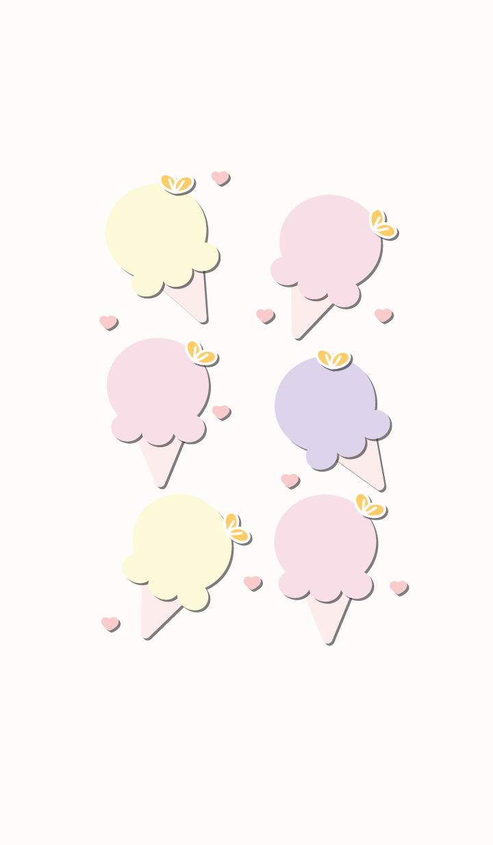 Cute ice-cream theme 58