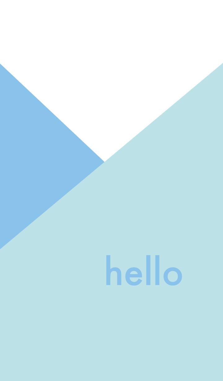 hello - アクアブルー