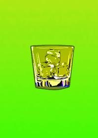 Fashionable ice glass Yellow green