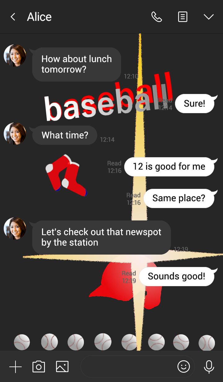 赤い野球ヘルメット(靴下編)