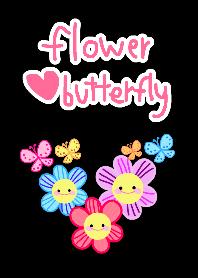 Flower love butterfly