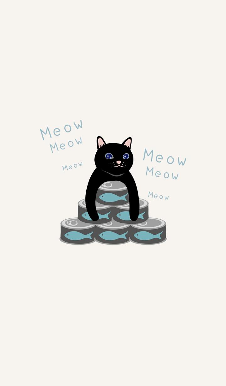통조림을 사랑하는 검은 고양이