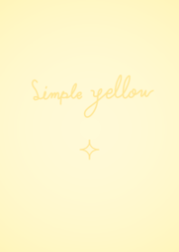 simple yellow and shine.