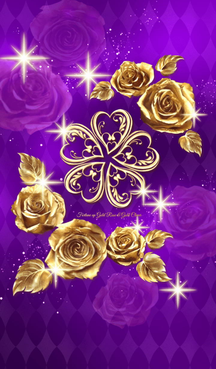 Fortune up Gold Rose & Gold CloverViolet