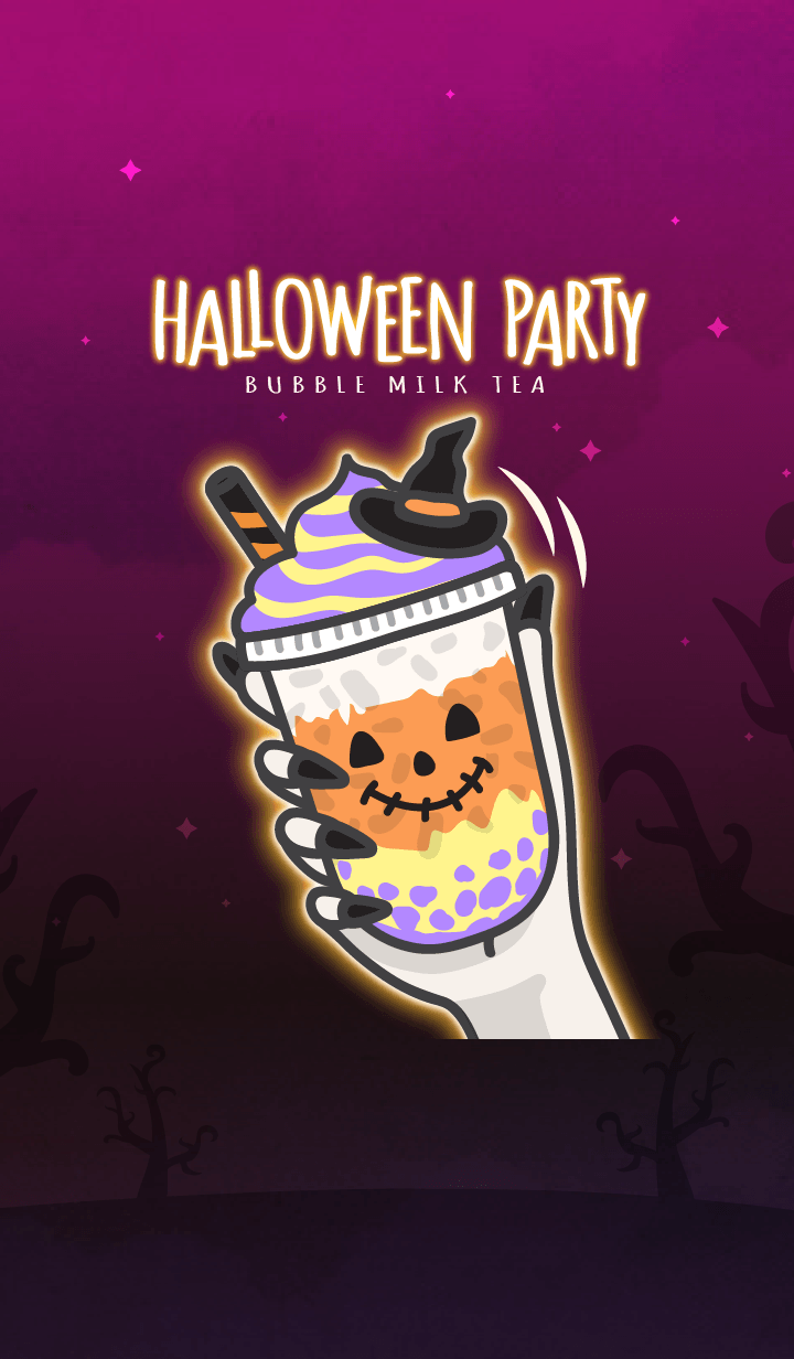 Bubble milk tea cafe 6 (Halloween)