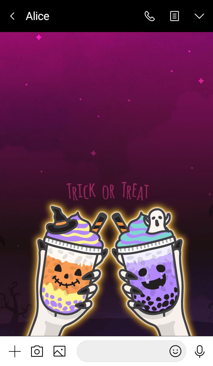 Bubble milk tea cafe 6 (Halloween)