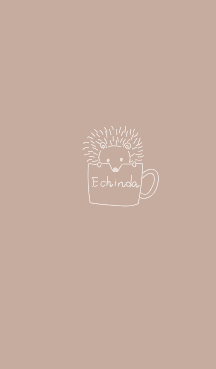 Beige hedgehog in coffee cup g