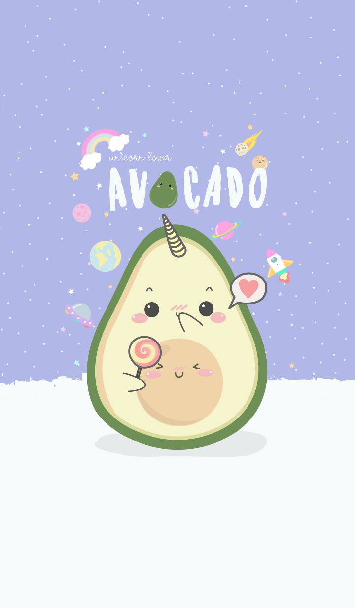 Avocado Unicorn Lover (pastel ver.)