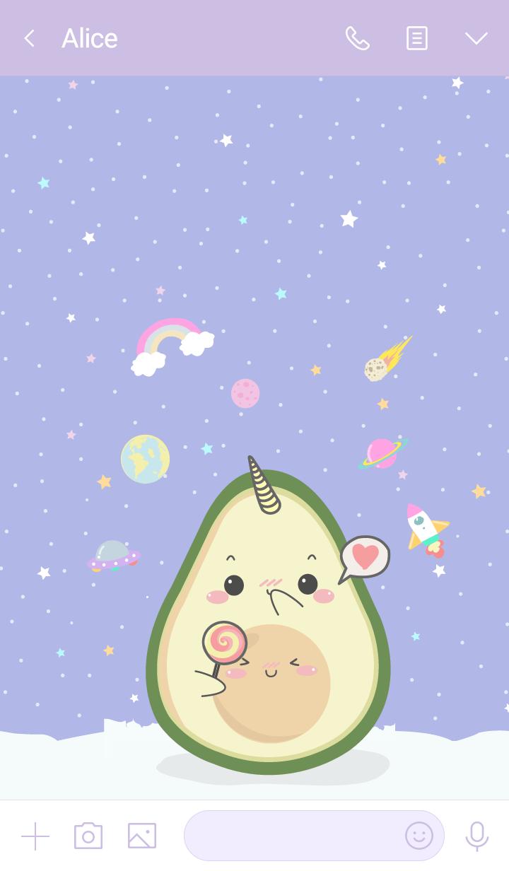 Avocado Unicorn Lover (pastel ver.)