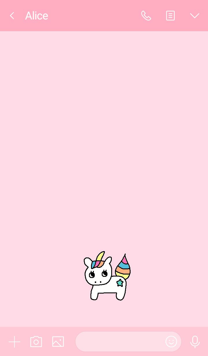 (simple unicorn pink)
