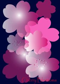 Cherry Blossoms in ultramarine
