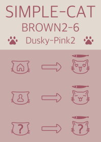 simple cat brown2-6 dpink2