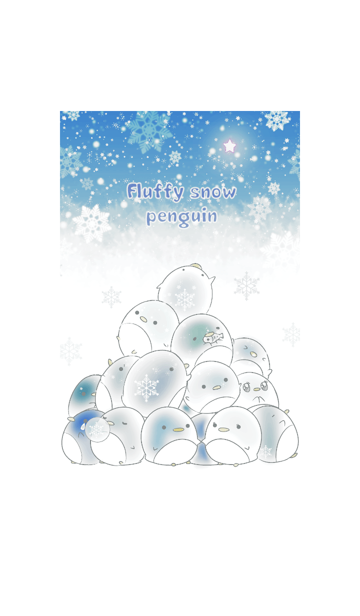 Fluffy snow penguins