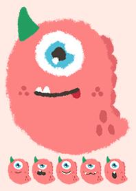 Kawaii pink monster