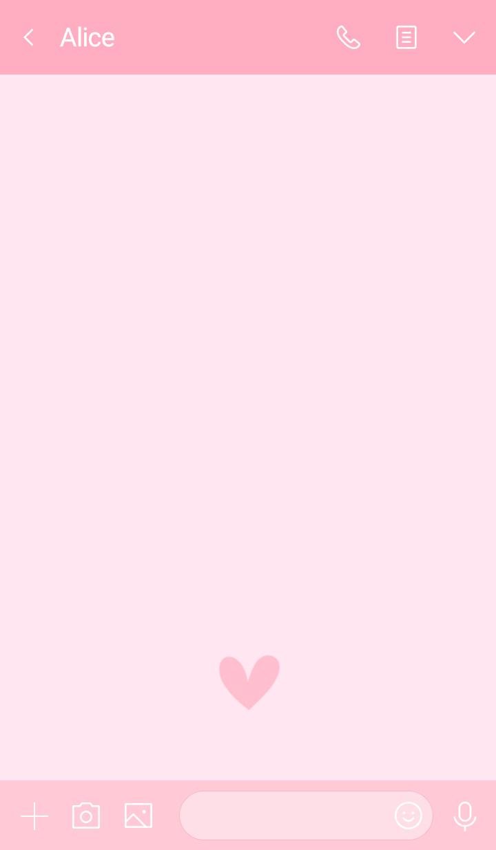 大人ハートのデザイン・淡いピンク