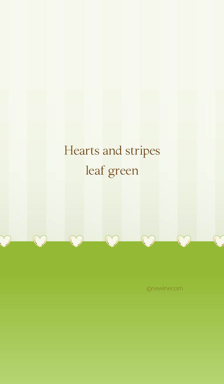 Hearts and stripes leaf green