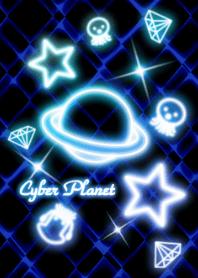Cyber Planet -Neon blue-