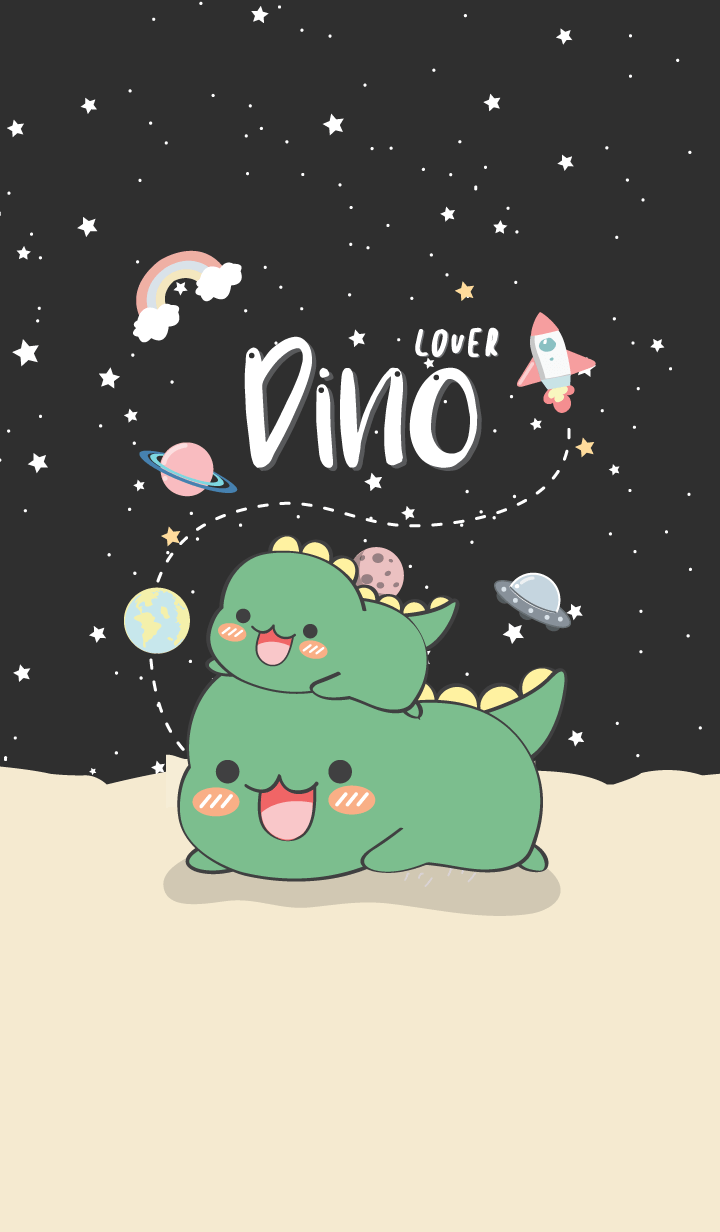 Dino Lover. (love black)