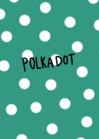 Mint-colored polkadot summer